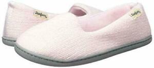 Dearfoams Rebecca Chenille Slippers Pink Womens XL  NEW