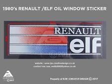Renault Elf posterior ventana Pegatina (versión 1980s) R5, R11, R9, R21, R25, Espace,