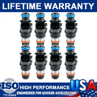 New Set 8 Fuel Injectors 12580681 For Delphi 2004-2010 Chevy GMC 4.8 5.3 6.0 6.2
