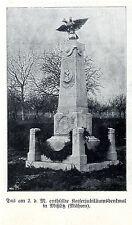 Das am 2.d.M. enthüllte Kaiserjubiläumsdenkmal in Mißlitz Bilddokument 1908