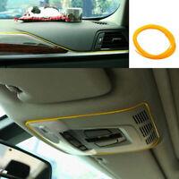 5M/16ft Yellow Car Interior Exterior Decoration Chrome Moulding Trim Strip Line