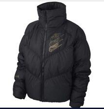 Nike Down Fill Loose Short Coat Jacket Black SMALL NEW Ladies CK3983 010
