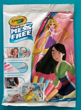 New Crayola Disney Princess Color Wonder Mess Free Magic Colouring Book/ Pens