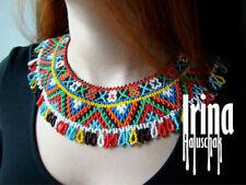 Folk Ukrainian necklace Bead collar Silyanka Gerdan Seed bead ukrainian jewelry