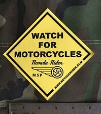 "Nevada Riders ""Watch For Motorcycles "" Sticker"