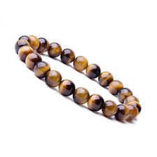 Natural 8mm Gorgeous Tiger eye Healing Crystal Stretch Beaded Bracelet Unisex