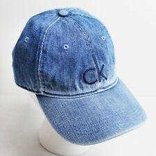 Calvin Klein CK Logo Blue Denim Adjustable Strap Dad Hat Cap - NWT
