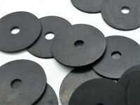 "1/4"" ID (7mm) X-Large Rubber Washers 1 1/4"" OD. 1/16"" Thick - Black"