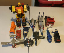 Vintage Lot G1&2 Transformers,Gobot Figures  Parts (Please View Photos)