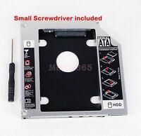 2nd SATA Hard Drive HDD SSD Caddy for Dell Alienware M15x M17x M18x R1 R2 R3 R4