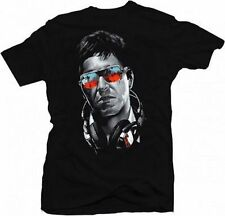 Scarface Dj Tony Music Headphones Sunglasses Drug Lord Gangster T Shirt S