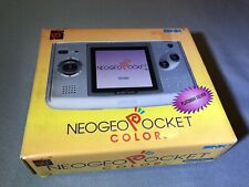 SNK Playmore Neo Geo Pocket Platinum Silver Handheld System New Open Box