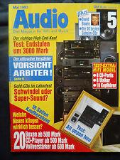AUDIO 5/93.DYNAUDIO AUDIENCE10,GRUNDIG BX 3000,JBL LX 500,T + A MIDI 2,UHER 1000