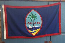 "Vintage US Flag Guam Territory cotton bunting 3""x5"" Bulldog"