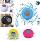 Waterproof Bluetooth Wireless Speaker Handsfree Music Mic Suction Shower Blue