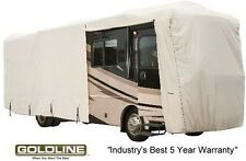 Goldline Class A RV Trailer Cover 32 to 34 foot Grey