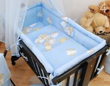 Baby Large Crib Bumper for Rocking Cradle / Swinging Crib Bear & Ladders Blue