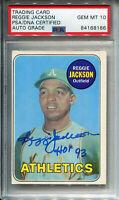 "Reggie Jackson ""HOF 93"" Autographed 1969 Topps Card (PSA)"