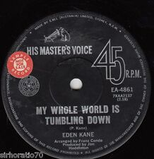 EDEN KANE My Whole World Is Turning Down / In The Day Of My Youth 45 Promo