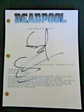Deadpool Film Screenplay Shooting Script Ryan Reynolds Rhett Reese Paul Wernick