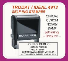 Virginia Notary Public Trodat Ideal Custom Self Inking Rubber Stamp