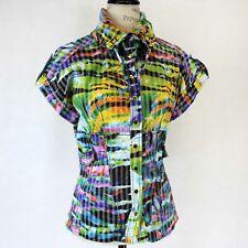 Alberto Makali for Neiman Marcus Multicolor Buttons Down Jacket Medium