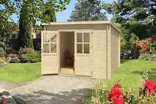 28mm Gartenhaus 290x190 cm Gerätehaus Schuppen Hütte Neu Holz Holzhaus Pultdach