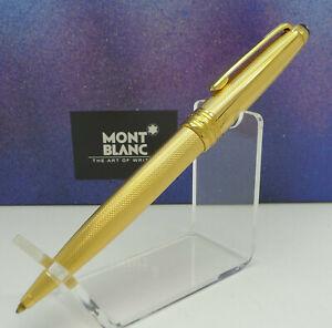 MONTBLANC 164 Solitaire Vermeil Silber Gold Korn Guilloche Kugelschreiber - NOS