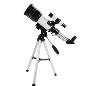 70mm Aperture 300mm Focal Length on Tripod Astronomical Telescope for Beginners