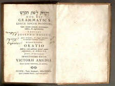 1739 - Pasini Giuseppe, ...דקדוק לשון הקדש Hoc est grammatica linguæ sanctæ...