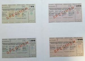 Switzerland SPECIMEN Set 4 Travellers Cheques 1966 SWISS BANK Folder UNC 32766