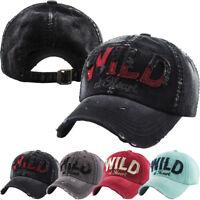 Wild Heart Vintage Distressed Baseball Cap Washed Dad Hat Adjustable