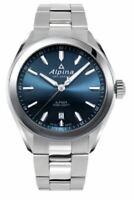 Alpina Quartz Caliber Men's Silver Band Blue Dial 42mm Watch AL-240NS4E6B