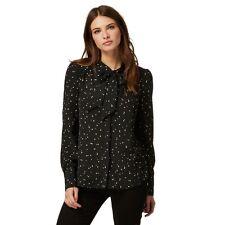 Debenhams Nine by Savannah Miller Black Pussybow Blouse Size UK 8 LF075 EE 09