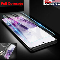 Full Cover Tempered Glass Screen Protector Samsung Galaxy S20 Ultra S10 Note 10+