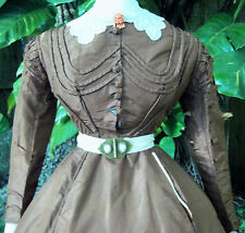 ANTIQUE CIVIL WAR ERA DAY DRESS c.1860s VICTORIAN