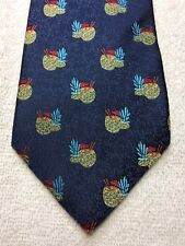 TOMMY BAHAMA MENS TIE NAVY BLUE WITH PINEAPPLE CUPS 3.5 X 57 NWT