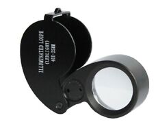 40x Zoom 25mm Illuminated Jeweller Loupe Eye Magnifier Magnifying Glass with LED