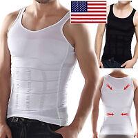 MEN SLIMMING VEST Chest Belly Shaper Slim Body Waist Slimmer Compression Shirt