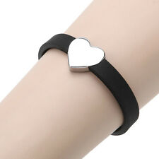 Personalised Fashion Women Unisex Stainless Steel Silicone Heart Bracelet Bangle