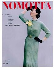 Nomotta #108 c.1952 - Vintage Style Knitting Patterns for Women's Fashions REPRO