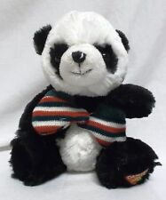 Dakin Panda Bear Plush - with Green, Red,White, Stripped Mittens