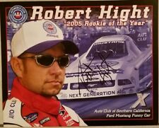 2006 Signed Robert Hight Rookie of the Year Handout John Force Racing