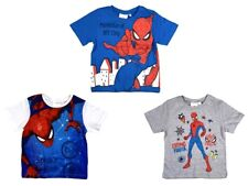 Boys Official Spider-Man Pack Of 3 T-Shirts Children's Kids Ages 3 4 8