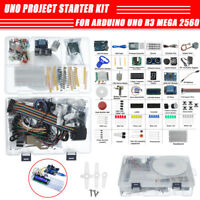 Project Complete Starter Kit For Arduino UNO R3 Mega 2560 Nano w/ Tutorial Power