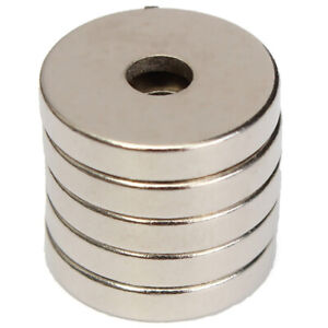 5Pcs N52 Tiny Round Neodymium Rare Earth Magnets Countersunk With Hole 15x3X4mm