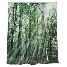 Duschvorhang Forest Wald Bäume 180x180 cm inkl Ösen Badewannenvorhang NEU/OVP