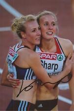 Atletismo: Lynsey Sharp firmado 6x4 foto de acción + certificado De Autenticidad * Rio 2016 * * EQUIPO DE GB *