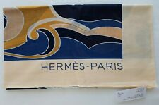 HERMES PARIS Womens 100% COTTON PAREO 'CHEVAL MARIN' in ROSE - BNWT