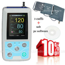 NIBP Holter 24h ambulatory blood presure monitor, 3 cuffs+pc software, FDA CE